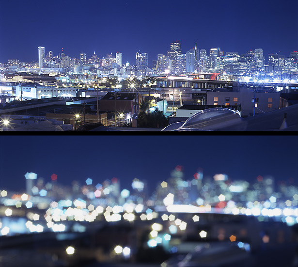 Cityscape Clear And Blurred Mkaz Com